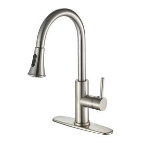 CUPC Pull-out Chrome Kitchen Sink Faucet With Single Handle