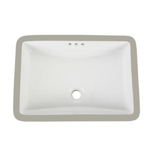 Large Size White Square Bathroom Sink
