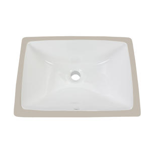 Ceramic Rectangular Undermount Lavatory Sink