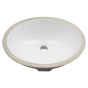 Porcelain Undercounter Bowl Shaped Bathroom Sink