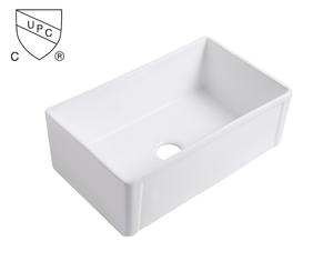 OEM White Kitchen Sink Manufacturers-Ceramic under mount farmhouse kitchen sink