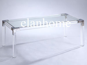 Silver - Lucite Console Table