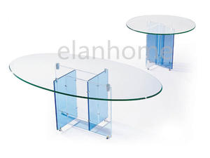 acrylic coffee table with metal link