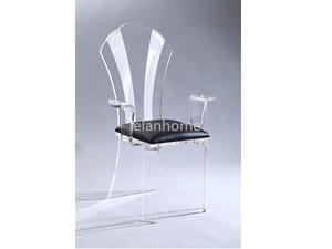 Transparent Acrylic Queen Chair
