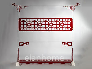 Classical Acrylic Chinses Screen , Antique Acrylic Chinese Screen, Fashion Acrylic Screen , Lucite Chinese Screen---china Red