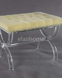 popular clear lucite bench