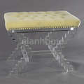 Z shaped bench wiht crystal acrylic legs