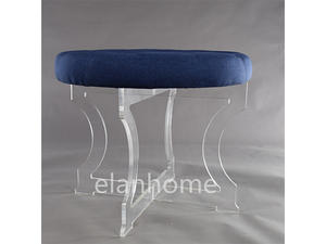 acrylic round bench X Shaped acrylic bench C111