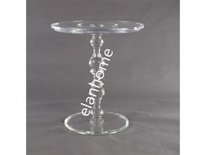 Crystal Lucite Coffee Table, Clear Acrylic Coffee Table, Acrylic Round Table Acrylic Side Table