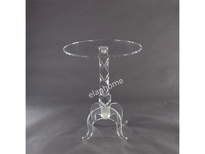 Clear Acrylic Coffee Table,