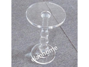 modern lucite  round table crystal acrylic small table manufacture