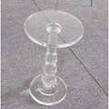 modern lucite  round table