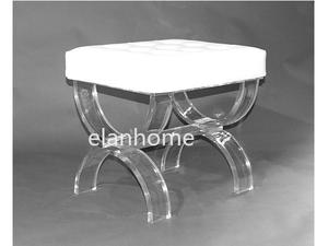 U shape clear acrylic bench U  shape crystal lucite bench supplier in china