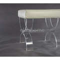 U shape clear acrylic bench