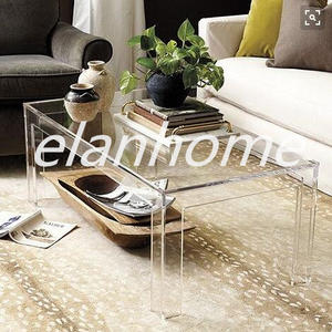 Modern Clear Acrylic Coffee Table
