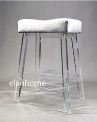 clear lucite bar chair