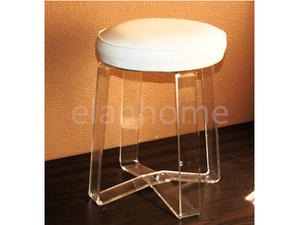 cheap lucite vanity stool modern stool with fabric cushion
