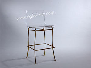 Clear Acrylic Bar Chair