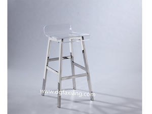 Crystal Lucite Bar Stool