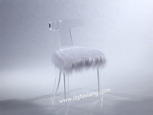 Crystal Lucite Chair