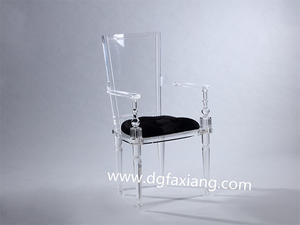 acrylic clear chair transparent acrylic armchair with fabric cushion acrylic chair