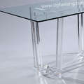 long acrylic dining table