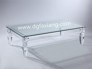clear coffee table long acrylic coffee table
