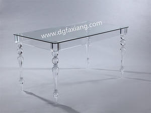 dining table transparent acrylic dining table