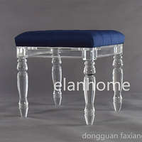 luxury high quality clear acrylic stool furniture