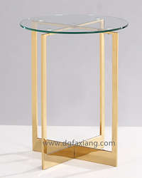 high stainless steel round table