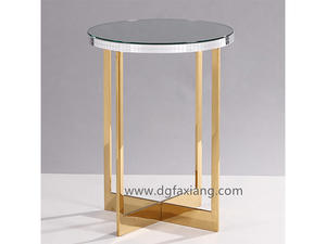 Modern Gold Stainless Steel End Table