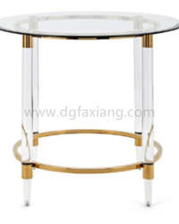 fashion design coffee table with clear acrylic and stainless steel