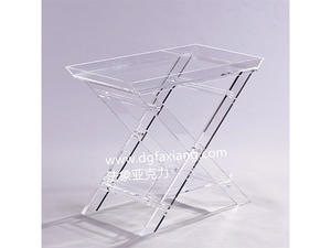 hot sale clear folding side table acrylic side table supplier in China