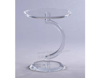 2019 hot sale crystal acrylic side table
