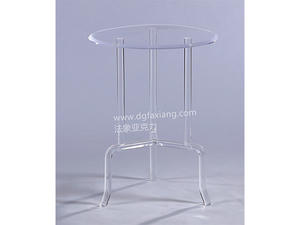 modern lucite side table clear round acrylic table