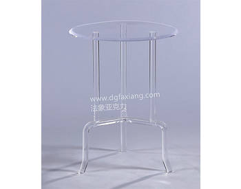 modern lucite side table