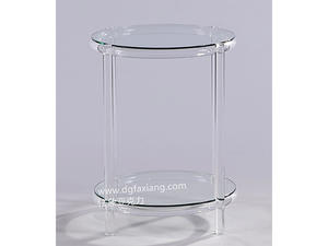 custom round acrylic end tale crystal simple acrylic round table