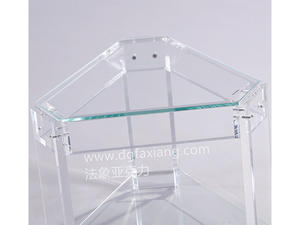 2019 Wholesale Custom Clear Acrylic Side Table