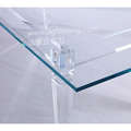 new crystal acrylic KD long dining table