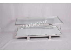 modern clear acryli coffee table