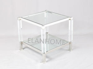 Hot Sale Clear Acrylic Folding Side Table
