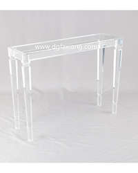 clear lucite console table