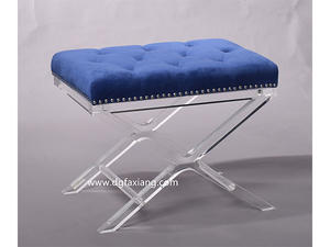 fashion clear acrylic bench popular crystal lucite stool for bedroom