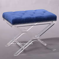 fashion clear acrylic bench