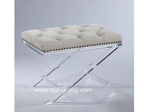 crystal acrylic vanity bench clear lucite bench manufacture