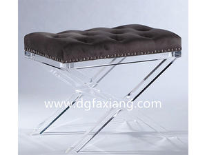 Custom Modern Clear Lucite Bench