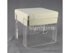 clear acrylic bench with cushion crystal acrylic stool on sale