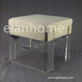 clear acrylic bench with cushion