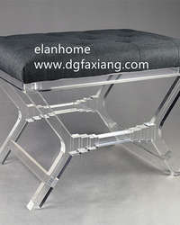 Elegant Design Transparent Acrylic Bench