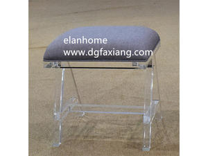 cheap clear lucite bench